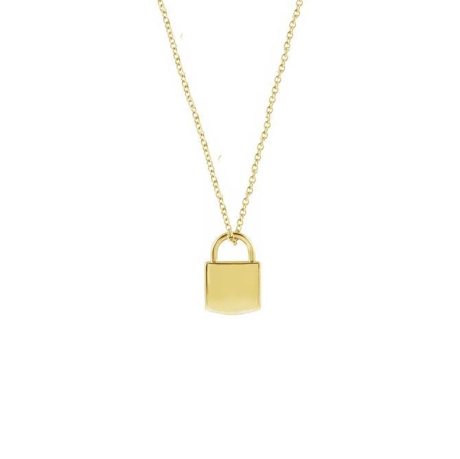 Lock Necklace (Engravable)
