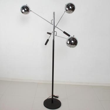 Robert Sonneman Vintage Triennale Three Arm Modern Floor Lamp Chrome by AMBIANIC