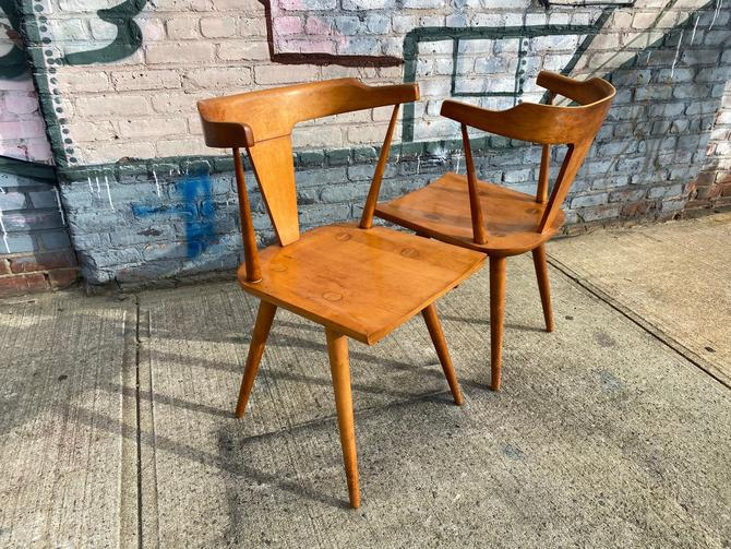 Pair of Vintage mid century American Paul Mccobb Planner group dining arm chair original condition by symmetrymodern