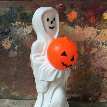 Vintage Blow Mold Ghost Holding Jack O Lantern, Empire Halloween Ghost With JOL, No Cord Included by luckduck