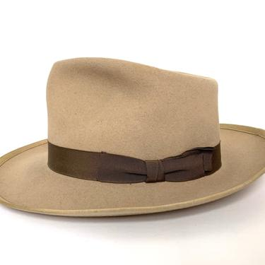 Vintage 1950s PENNEY'S MARATHON Fedora ~ size 7 1/4 ~ Whippet Clone by SparrowsAndWolves