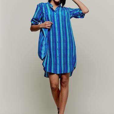 Jenna Dress   Blue Lorden Stripe