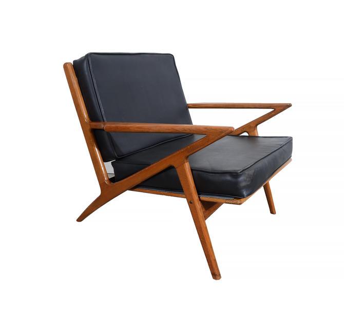 Z chair poul jensen style lounge chair selig style m belfabrik danish modern by hearthsidehome - Poul jensen z chair ...