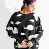 Cynthia Rowley The Cloud Nine Sweatshirt, Size M