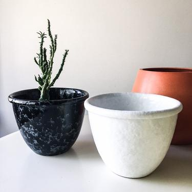 Marble Glaze White Bennington Potters Bowl Planter Cooperative Design Vermont American Mid Century David Gil Vintage Vase Succulents Pottery by CaribeCasualShop