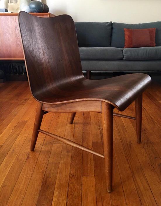 Rare Petite Bent Plywood Lounge Chair American Mid Century