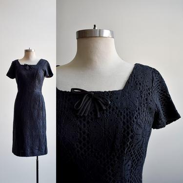 1960s Black Lace Cocktail Dress by milkandice
