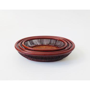 Vintage Oval Wicker Nesting Trays / Set of 3 by SergeantSailor