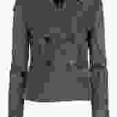 Diane von Furstenberg - Black Sparkly Double Breasted Blazer Sz 6