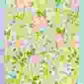 Daisy Floral Tea Towel Set - Green
