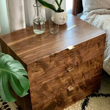 Nightstands, nightstand, dresser, end table, wardrobe, wireless charger by WoodbeeWoodworks