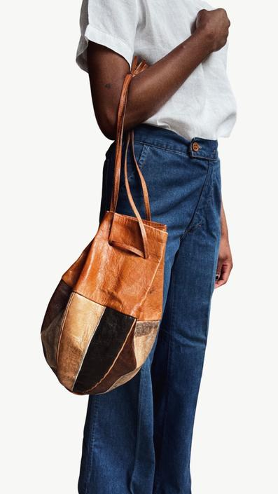African Leather and Skin Bag