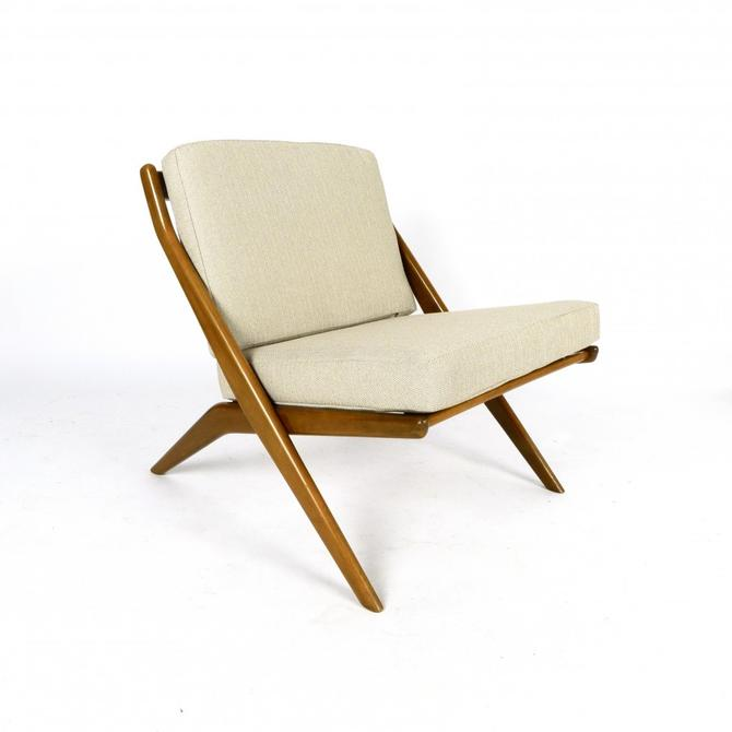 "Folke Ohlsson ""Scissor"" Lounge Chair From Sweden"
