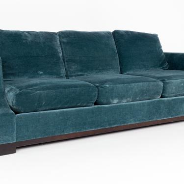 Baker Furniture Contemporary Down Filled Blue Sofa by ModernHill