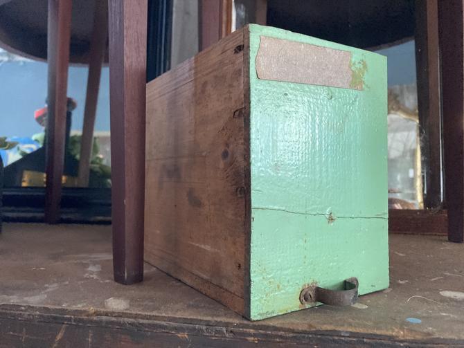 Vintage green drawer