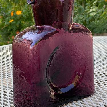 Blenko Amethyst Glass Water Bottle Decanter by Walkingtan
