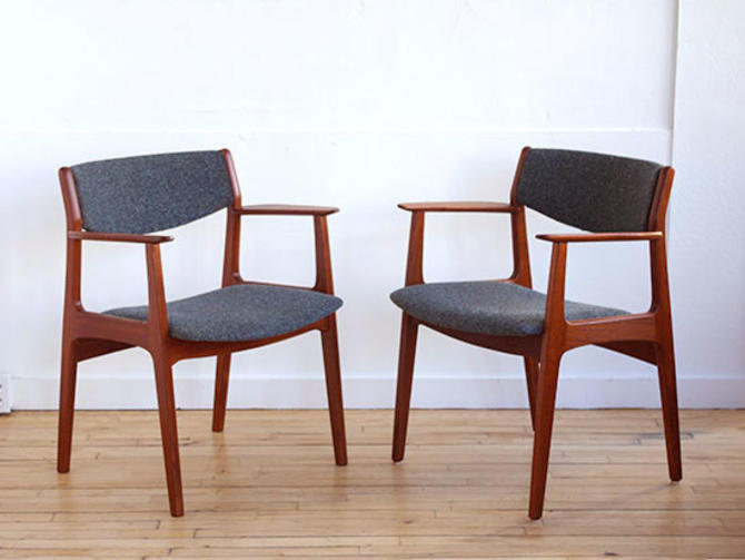 Pair Borge Mogensen Arm Chairs