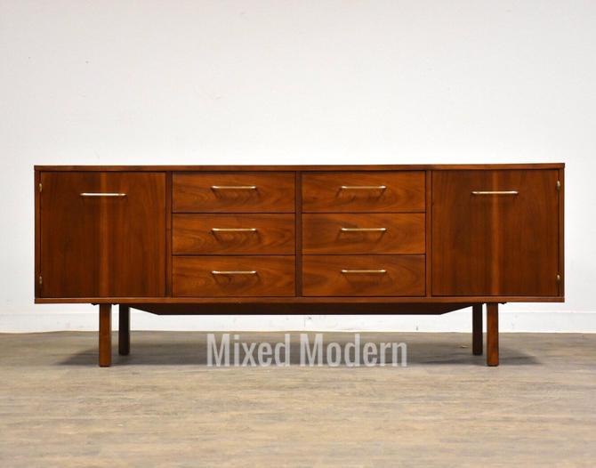 Walnut Jens Risom Style Credenza by B.L. Marble by mixedmodern1