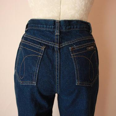 80s 90s Calvin Klein Dark Wash Straight Leg Jeans Size S by NoSurrenderVintage