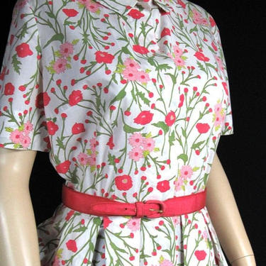 Vintage 50s Peck and Peck Floral Day Dress 40 Bust Waist 30 Modest Day Dress FREE Shipping US Only by GraveyardVintage