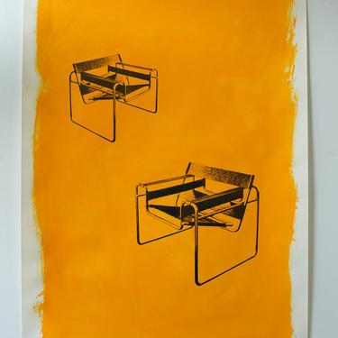 Breuer-Metallmobel Chairs Original Art Dairylide Yellow (signed)