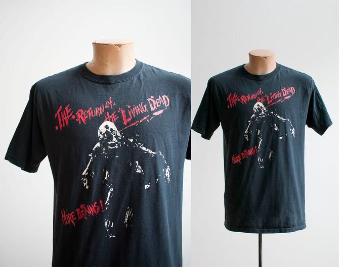 Vintage Return of the Living Dead Tshirt / Vintage Horror Movie Tee / George Romero Tshirt / 1980s Horror Movie Tee / 80s Horror Tshirt M by milkandice