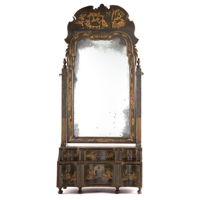 Queen Anne Chinoiserie Dressing Mirror