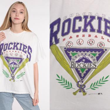 Colorado ROCKIES T Shirt 90s MLB TShirt Graphic Tee Retro Baseball T Shirt Vintage 1990s Sportswear Shirt Extra Large xl by ShopExile