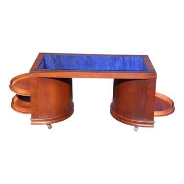 Art Deco Cobalt Blue Glass Cocktail Coffee Table