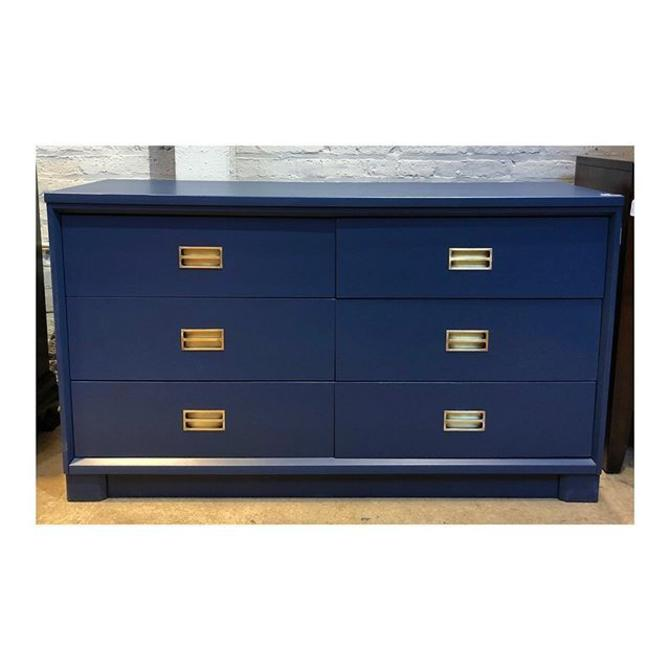 "Fabulous Royal Blue Painted Dresser with Brass Hardware 52"" Wide X 18"" Deep X 30"" Tall"