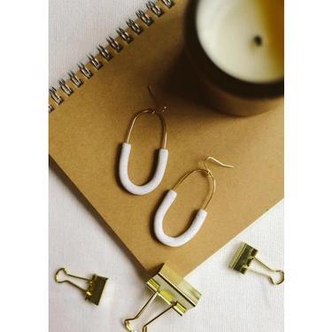 Modern Hoops Earrings, 18k Gold Plated
