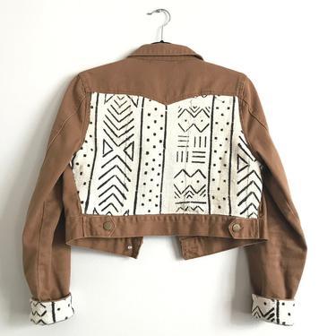 Dark Khaki Cropped Jean Jacket