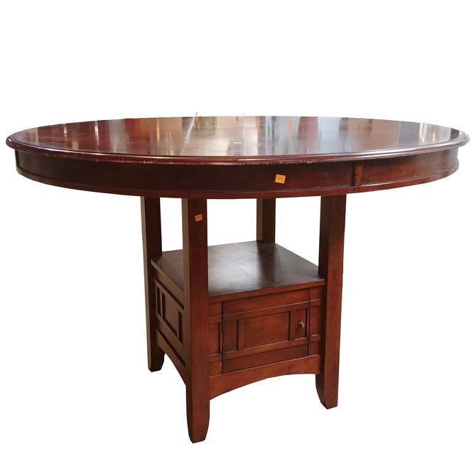 Round Dining Room Table with Storage Cabinet