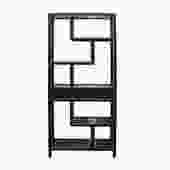 Black Lacquer Two Sided Display Curio Cabinet Room Divider cs5413S
