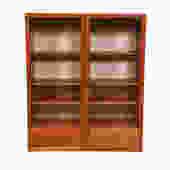 Danish Teak Hanging Glass Door Display Cabinet