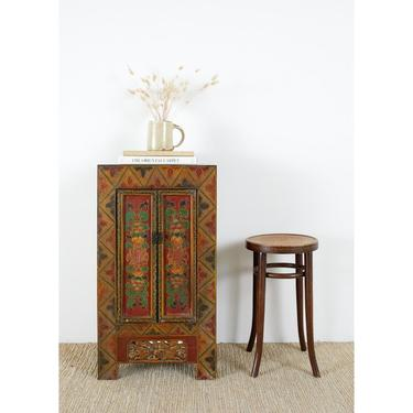 Mid-Century Chinese Export Painted Cabinet by ErinLaneEstate