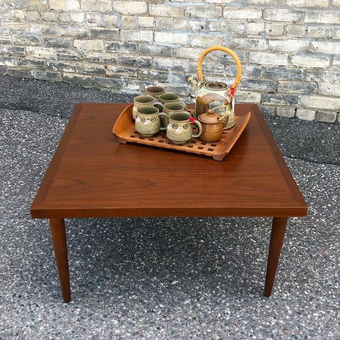 American Of Martinsville Walnut Coffee Table