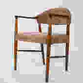 Brazilian Rosewood Arm chair with Pink Fabric