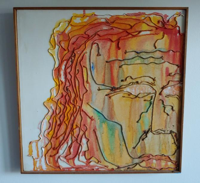 Original Mixed Media Painting Titled The Architects Self Portrait by ModandOzzie