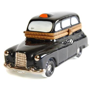 Limoges London Taxi Trinket Box Designer Vintage La Seynie DuBarry Retro Porcelain Box by Curiopolis