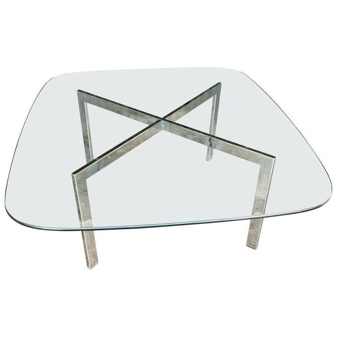 Milo Baughman Chrome and Glass Cocktail Table by HermansSteelGarage