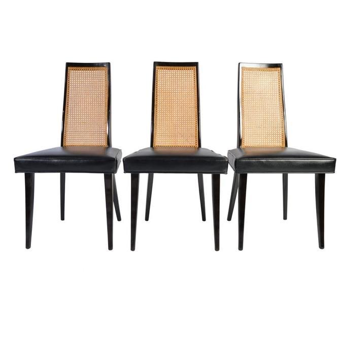 "Harvey Probber ""Classic"" Dining Side Chairs Model 1055 in Ebonized Mahogany"