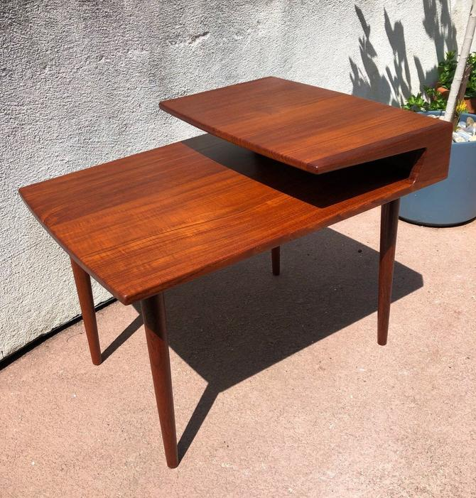 Vintage Mid Century Danish End Table by BentwoodVintage
