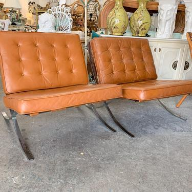 Pair of 70s Barcelona Lounge Chairs