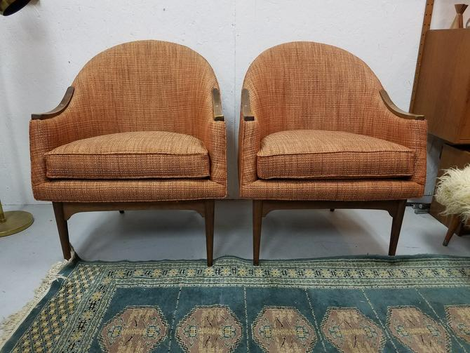 Pair of Lawrence Peabody for Richardson Nemschoff Company Mid-Century Side Chairs