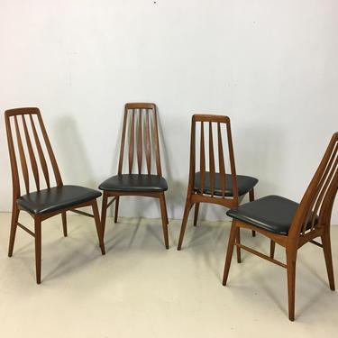 "Danish Modern Teak ""Eva"" Dining Chairs by Neils Koefoed by retrocraftdesign"