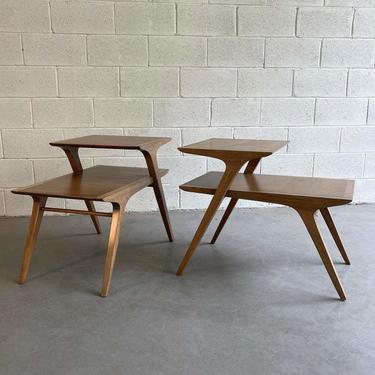 Mid Century Modern Step End Tables By John Van Koert For Drexel
