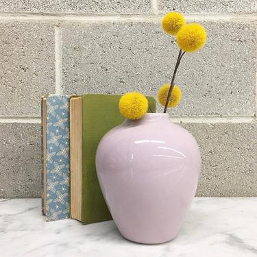 Vintage Vase Retro 1980s USA Pottery + #712 + Pastel + Lavender + Ceramic + Flower or Plant Display + Accent + Home and Table Decor by RetrospectVintage215