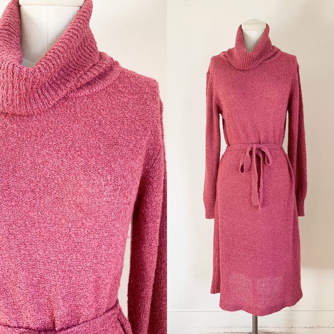 Vintage 1970s Maroon Sweater Dress / S-M by MsTips
