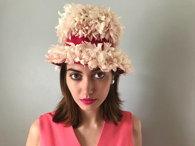 Vintage Floral Topper Hat by SpeakVintageDC